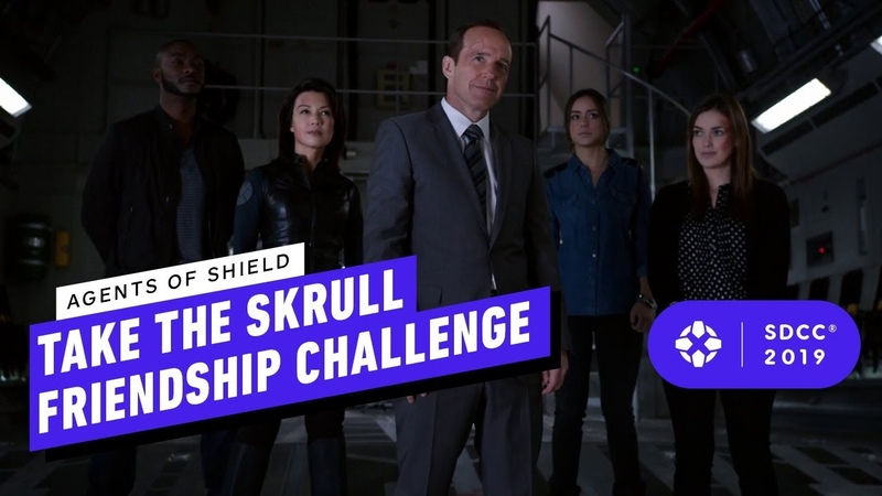 Marvel's Agents of SHIELD Take the Skrull Friendship Challenge Comic Con 2019