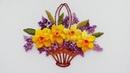 Flower Embroidery Flowers Daffodils Вышивка Цветы Нарциссы