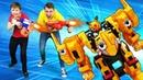 Видео игры гонки – Монкарт Васпер против бластеров Нерф! – Детское видео.