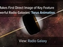 Астрономы получили прямой снимок пылевого тора, окружающую крайне активную сверхмассивную черную дыру.
