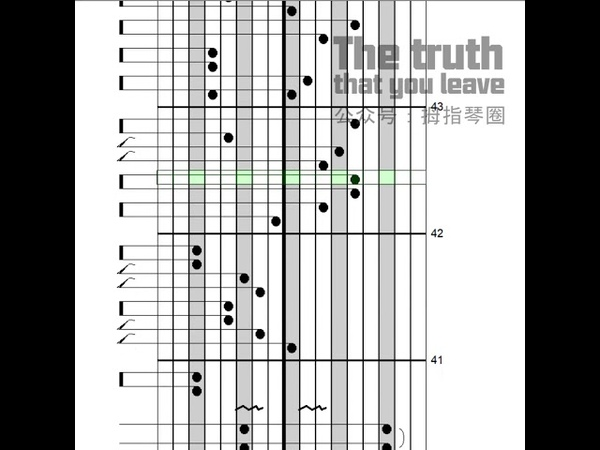 【GECKO kalimba tabs】the truth that you leave