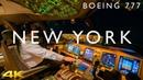 BOEING 777 LANDING AT NEW YORK IN 4K
