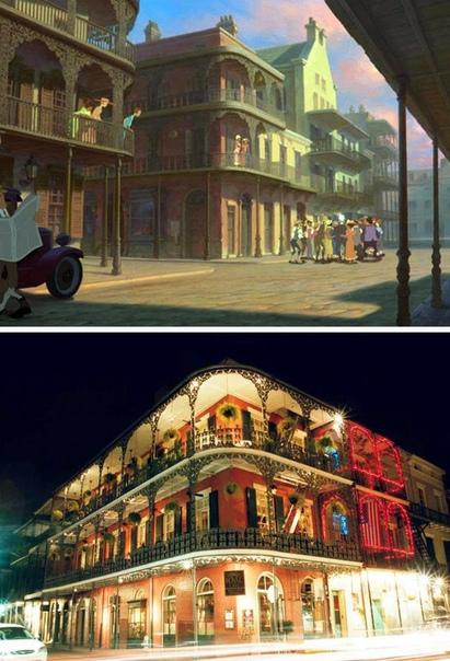 10 реальных мест из мультфильмов Disney