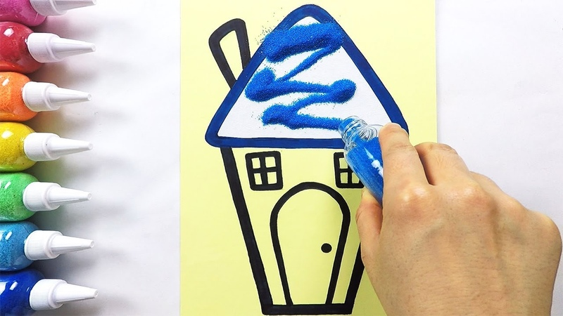 Funny House coloring drawing studying English for kids ㅣ 재미있는 집 그리기 색칠하기 영어 공부