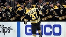Patrice Bergeron finishes tic-tac-toe on power play