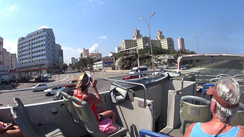 CUBA LA HABANA excursión en el bus 22 fevrero 2019 completamente