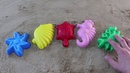 Learn Colors for Children colored sand molds marine inhabitants учим цвета