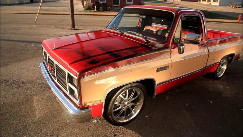 1987 Slammed GMC Chevy Squarebody Hot Rat Street Rod Patina Shop Truck FOR SALE