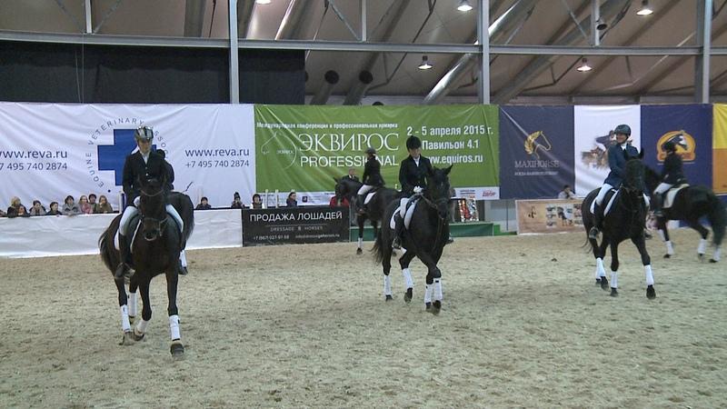 Эквирос 2014 Котильон на лошадях русской верховой породы всадниц ТСХА