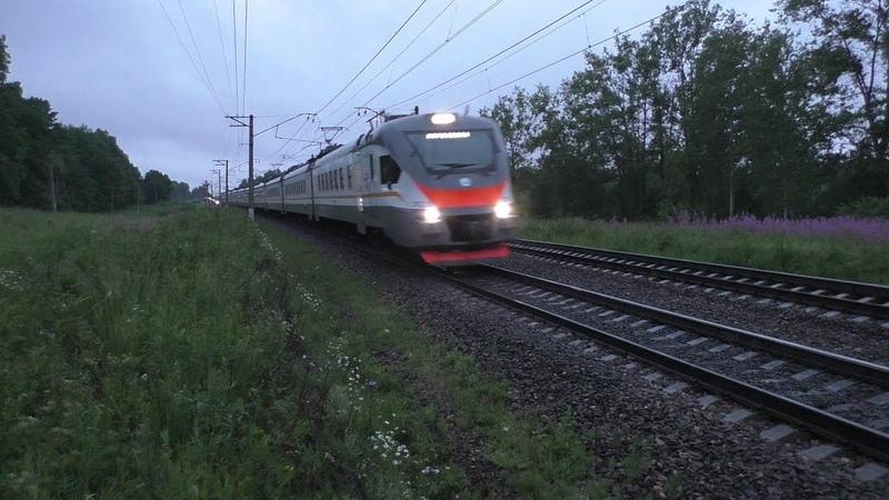 Электропоезд ЭП2Д-0004 ЦППК перегон Нара - Бекасово-1
