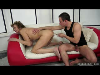 Katherin - anal sex with hairy ganny after yoga  mature, milf, bbw, мамки