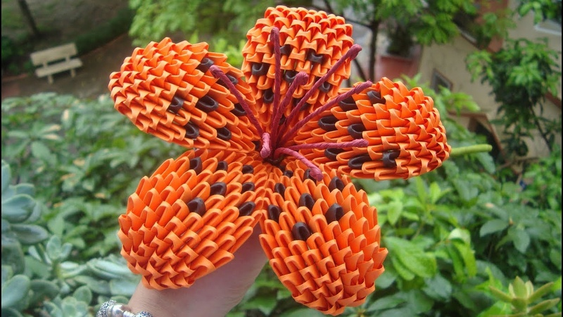 3D Origami Lily Flower V1,2 | Paper Lily Flower Home Decoration