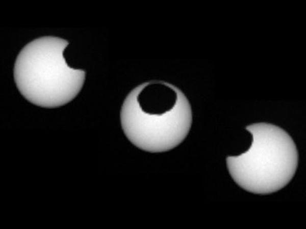 Посмотрите как выглядят солнечные затмения на Марсе на самом деле