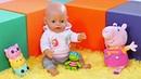 Juegos de muñecas infantiles Una cancha cubierta para Baby Born Vídeo para niñas pequeñas