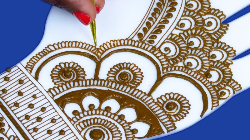 Wow!! Very Pretty Eid Mehndi Design for Beginners | Easy Mehndi Design for Hands by Sonia Goyal 481
