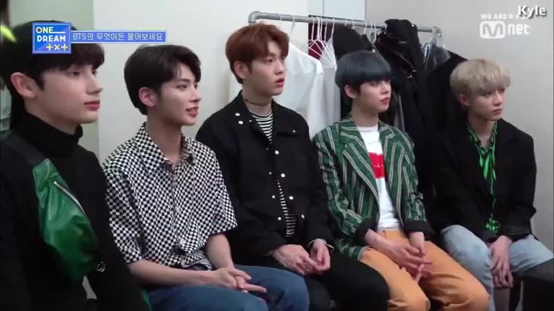 [Озвучка by Kyle] Встреча BTS и TXT за кулисами_ [One Dream TXT]