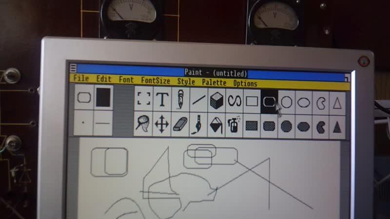 Короткий VLOG с работы 80386-й с загрузкой с дискеты