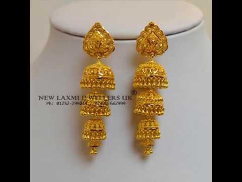 LATEST designer gold jhumkas earrings
