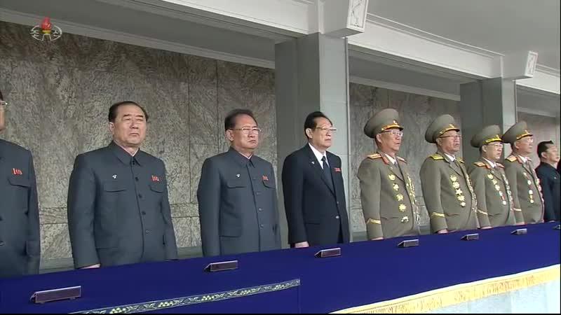 경애하는 최고령도자 김정은동지께서 조선민주주의인민공화국 국무위원회 위원장으로 높이 추대되신것을 경축하는 중앙군중대회