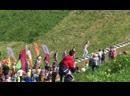 20 мая.г.Волковыск.Мастер спорта Евгений Королёк доставляет факел с огнем на Шведскую гору.Беларусь.
