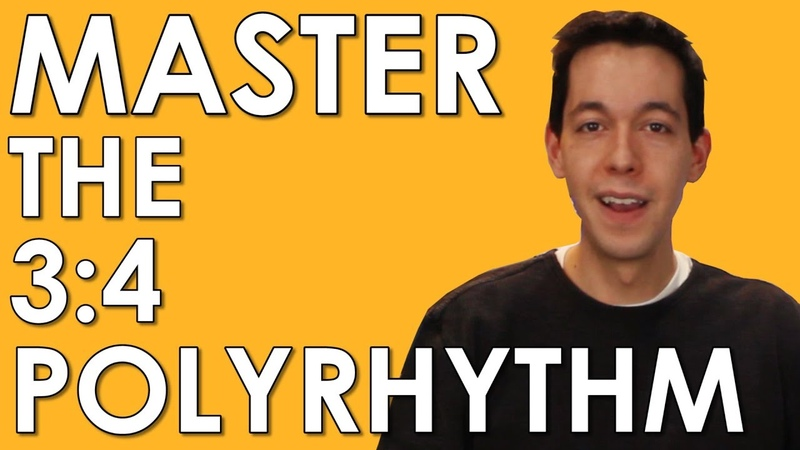 POLYRHYTHM Learn and MASTER 3 4 and 4 3 MUSIC THEORY RHYTHM COUNTING