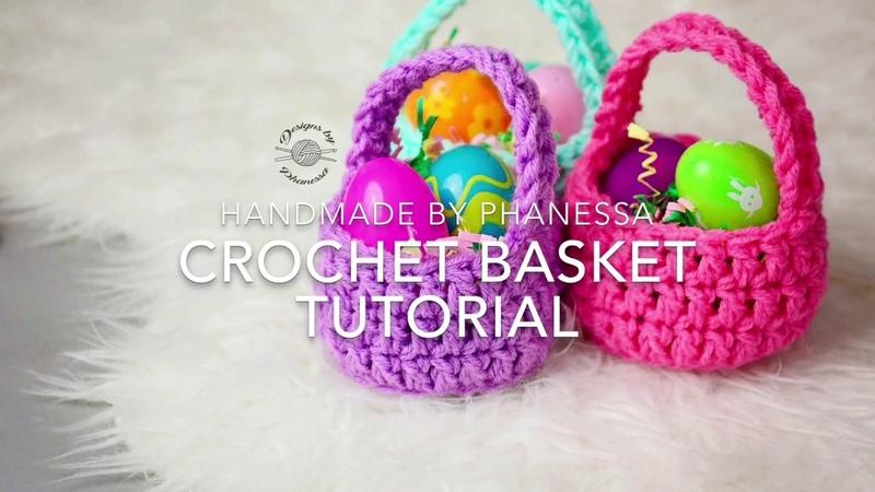 Crochet Mini Basket Pattern Tutorial