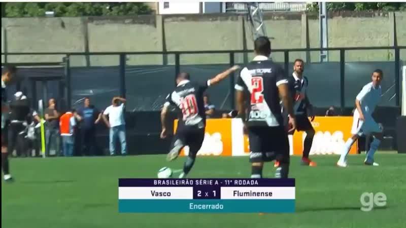 Gol de Falta Bruno César: Vasco 2x1 Fluminense