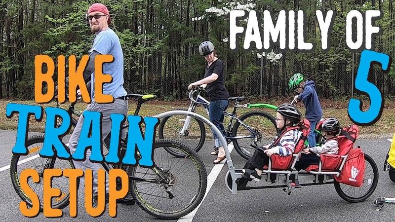 Our Familys Bike Trains - Weehoo iGo2 (RV Bound   Family of 5) S1-Ep3