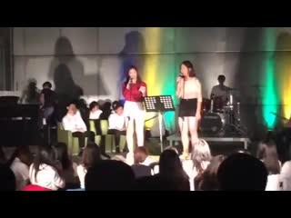 190407 @ #ITZY LIA pre-debut videos on Jeju International School 'Talent Show'