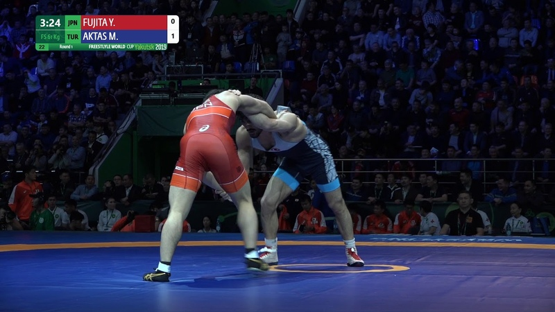 Round 1 FS 61 kg Y FUJITA JPN v M AKTAS TUR