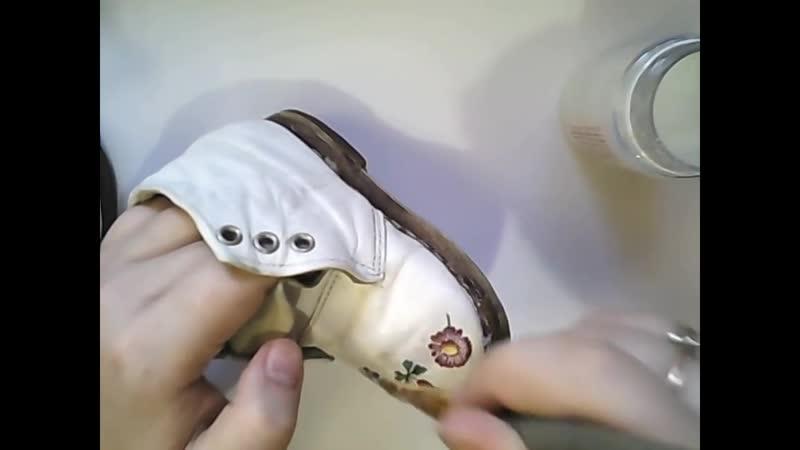 ДЕКУПАЖНЫЕ ПОЛЕЗНОСТИ 2 Декупаж на коже Обувь