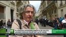 Acte 28 à Paris des Gilets jaunes bloqués par les forces de l'ordre dans une petite rue