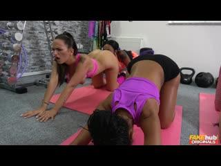 [fakehuboriginals.com] claudia bavel, isabella chrystin, lola marie (witness the fitness) [lesbian, big tits, threesome, masturb