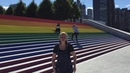 Largest LGBTQ Pride Flag Unveiled At Roosevelt Island FDR Four Freedoms Park Celebrating World Pride