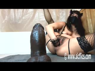 Littlelillyfckslut ride big black dildo and fist self hard
