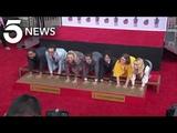 'Big Bang Theory' Stars Imprint Hands at Chinese Theatre