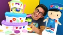 Play Doh yeni pasta makinesi. Pepee için pasta yapıyoruz