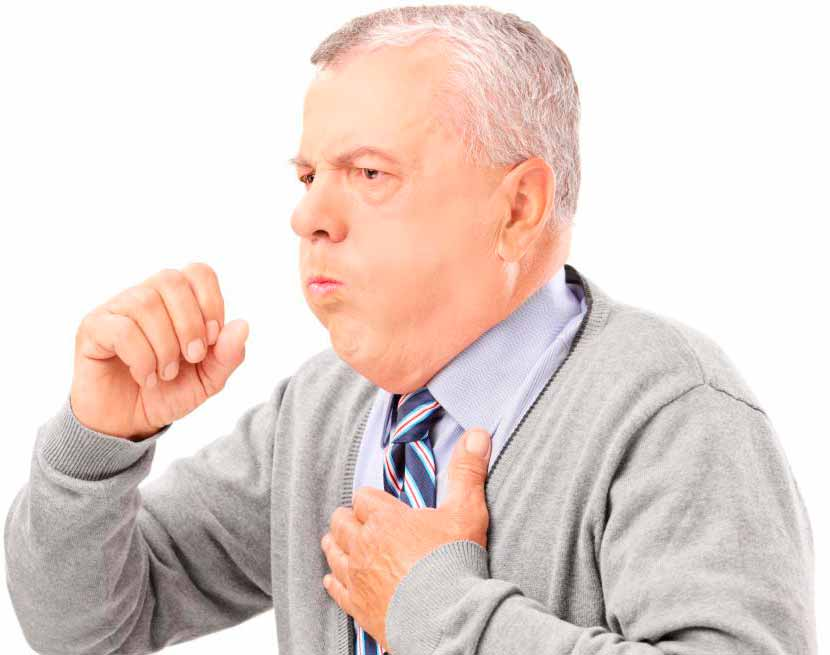 У кого-то с раком легких может быть постоянный, даже кровавый, кашель.