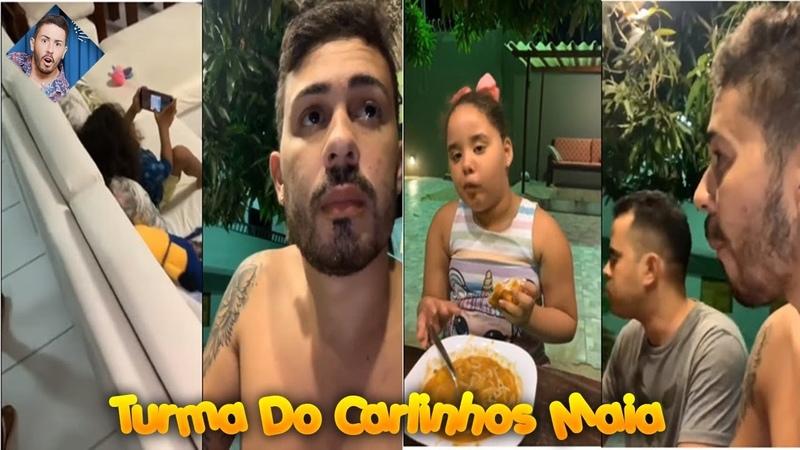 Carlinhos Maia chega em sua casa de praia e janta com Brenda Ysadora