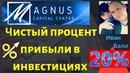 Magnus Capital Center - Чистый процент прибыли в инвестициях Магнус Капитал Центр