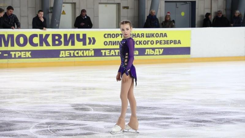 Дарья Усачёва, ПП (Daria Usacheva, FS), старшие, Первенство Москвы младшего возраста 2019