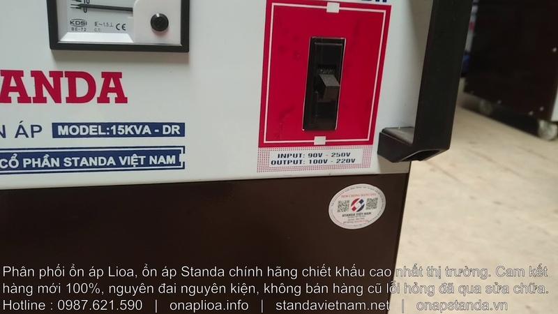 Ổn Áp Standa 15KVA Dải 90V-250V Model ST-15000DR Dây Đồng 100 Chất Lượng Cao Giá Rẻ