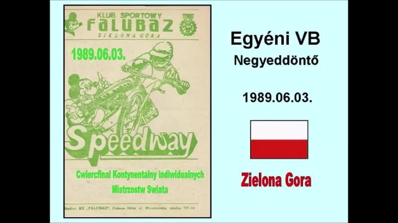 1989.06.03. Speedway continental quarterfinal- Zielona Gora (POL)