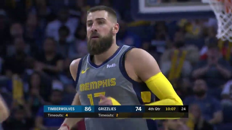 Jonas Valanciunas scores 20 points 14 rebounds double double vs Minnesota Timberwolves 3 22 19