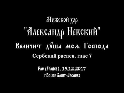 Величит душа моя Господа Сербский распев глас 7