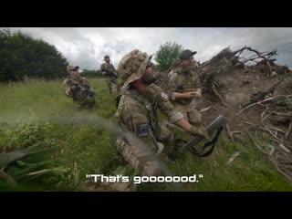 Royal marine commandos play airsoft (afghan war veterans)