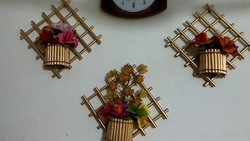 How to Make Paper Wall Hanging Decoration DIY Home Decoration ideas Newspaper recycling ideas