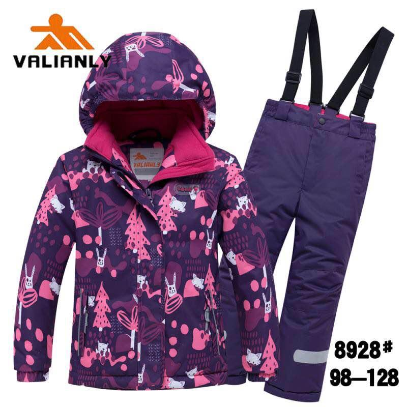 Зимний комплект Valianly 8928 сиреневый