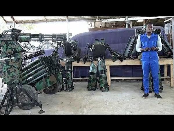 Watch How Apostle Kwadwo Safo Invented His 65kg Kantanka Military Exo-Skeleton