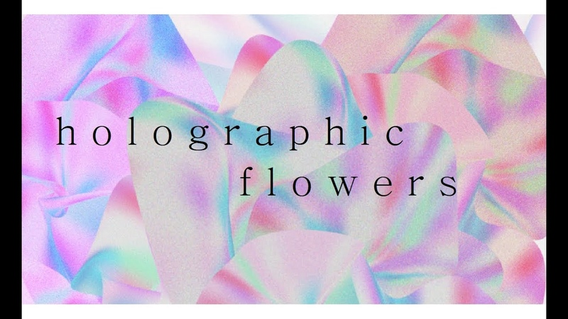 Photoshop time-lapse 2 - holographic flower poster